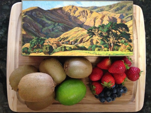 A gift from my cousins Molina and Rojas: A box of Venezuelan chocolates from La Praline Chocolatier with a painting of the Avila, part of the cordillera in the coastal region of central-northern Venezuela.