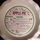 Apple Pie Plate [ Bed Bath & Beyond ]