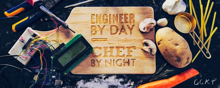 Engineer by Day, Chef by Night Cutting Board
